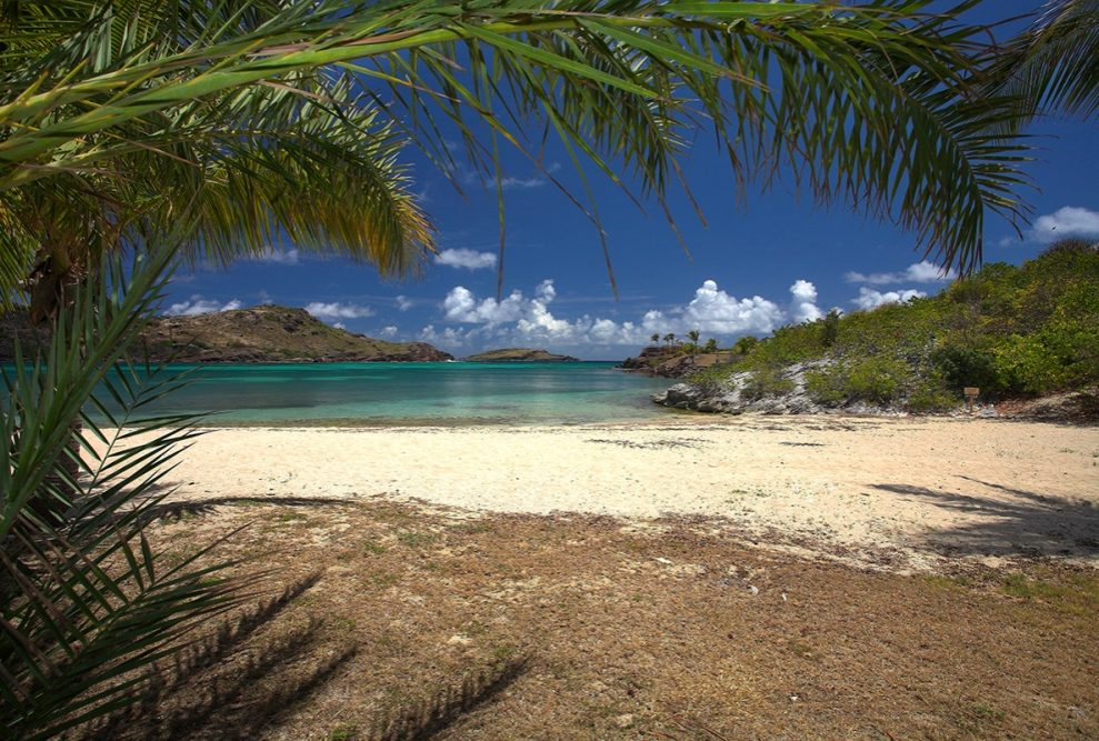 Wild beach at Saint Barts