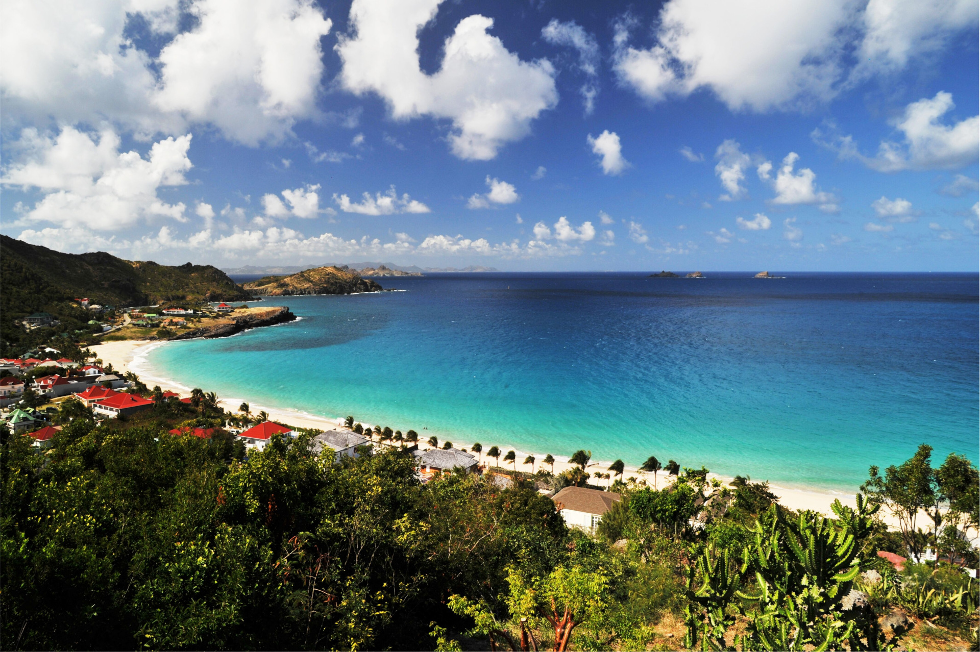 blue sky in St Barts